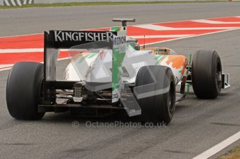 World © Octane Photographic 2011. Formula 1 testing Friday 11th March 2011 Circuit de Catalunya. Force India VJM04 - Adrian Sutil. Digital ref : 0022LW7D3056