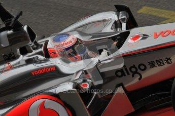 World © Octane Photographic 2011. Formula 1 testing Friday 11th March 2011 Circuit de Catalunya. McLaren MP4/26 - Jenson Button. Digital ref : 0022LW7D3490
