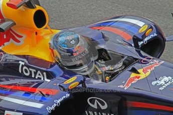 World © Octane Photographic 2011. Formula 1 testing Friday 11th March 2011 Circuit de Catalunya. Red Bull RB7 - Sebastian Vettel. Digital ref : 0022LW7D3555