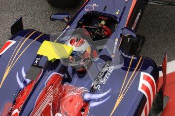 World © Octane Photographic 2011. Formula 1 testing Friday 11th March 2011 Circuit de Catalunya. Toro Rosso STR6 - Jamie Alguersuari. Digital ref : 0022LW7D3568