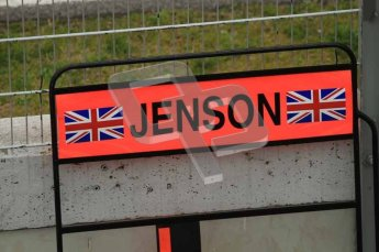 World © Octane Photographic 2011. Formula 1 testing Tuesday 8th March 2011 Circuit de Catalunya. McLaren MP4/26 - Jenson Button's pit board. Digital ref : 0017LW7D6320