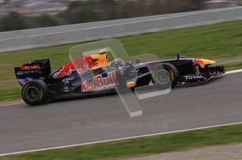World © Octane Photographic 2011. Formula 1 testing Tuesday 8th March 2011 Circuit de Catalunya. Red Bull RB7 - Mark Webber. Digital ref : 0017LW7D7170