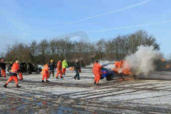 World © Octane Photographic Ltd. BMMC trainee marshals' fire training day, Donington Park. 26th January 2013. Digital Ref : 0568lw1d7143