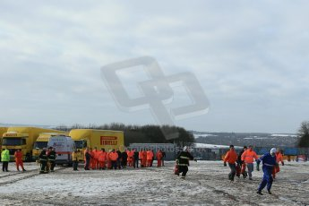 World © Octane Photographic Ltd. BMMC trainee marshals' fire training day, Donington Park. 26th January 2013. Digital Ref : 0568lw1d7279