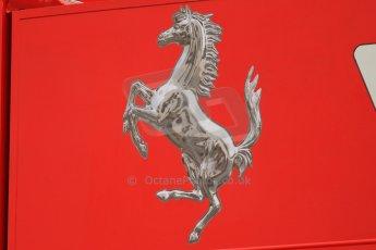 World © Octane Photographic Ltd. F1 Spanish GP Thursday 9th May 2013. Paddock and pitlane. Scuderia Ferrai logo. Digital Ref : 0654cb7d8346