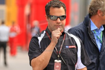 World © Octane Photographic Ltd. F1 Spanish GP Thursday 9th May 2013. Paddock and pitlane. Sky Sports F1 - Ted Kravitz. Digital Ref : 0654cb7d8477