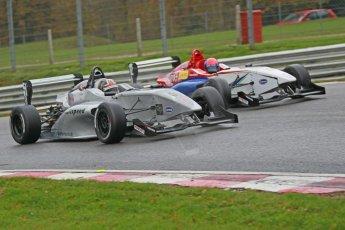 World © Octane Photographic Ltd. Brands Hatch, Race 3, Sunday 24th November 2013. BRDC Formula 4 Winter Series, MSV F4-13,  – Kieran Vernon - Hillspeed and Pietro Fittipaldi – MGR. Digital Ref : 0867cb1d7741