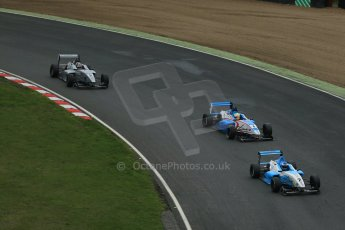 World © Octane Photographic Ltd. Brands Hatch, Race 3, Sunday 24th November 2013. BRDC Formula 4 Winter Series, MSV F4-13, Matthew (Matty) Graham – Douglas Motorsport, Sennan Fielding – HHC Motorsport and Kieran Vernon - Hillspeed. Digital Ref :