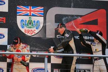 World © Octane Photographic Ltd. Brands Hatch, Race 4 Podium, Sunday 24th November 2013. BRDC Formula 4 Winter Series, MSV F4-13,  – Kieran Vernon (1st) - Hillspeed, Pietro Fittipaldi (2nd) – MGR and Sennan Fielding (3rd) – HHC Motorsport. Digital Ref : 0868lw1d8044