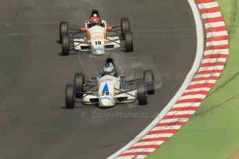 World © Octane Photographic Ltd. British Formula Ford – Brands Hatch, September 2nd 2011. JTR - Geoff Uhrhane and Dan de Zille. Digital Ref : 0875cb1d1537
