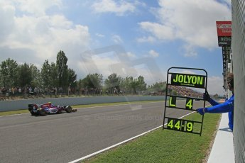 World © Octane Photographic Ltd. GP2 Spanish GP, Circuit de Catalunya, Friday 10th May 2013. Practice. Jolyon Palmer - Carlin. Digital Ref : 0660cb1d9395