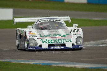 © Octane Photographic Ltd. 2012 Donington Historic Festival. Group C sportscars, qualifying. Spice SE88 - Mike Donovan. Digital Ref : 0320cb1d8687