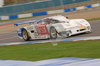 © Octane Photographic Ltd. 2012 Donington Historic Festival. Group C sportscars, qualifying. Spice SE86 - Tommy Dreelan/Aaron Scott. Digital Ref : 0320cb7d0264