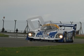 © Octane Photographic Ltd. 2012 Donington Historic Festival. Group C sportscars, qualifying. Porsche 956 - Russel Kempnich. Digital Ref : 0320lw7d9667
