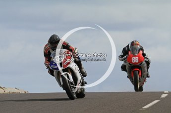 © Octane Photographic Ltd 2011. NW200 Thursday 19th May 2011. Fabrice Miguet, Kawasaki; Cameron Donald, Honda - Wilson Craig Racing. Digital Ref : LW7D1637