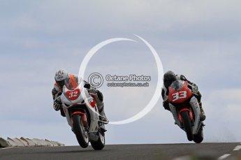 © Octane Photographic Ltd 2011. NW200 Thursday 19th May 2011. Herve Gantner,  Honda - Rhino Universal; Adrian Clark, Honda - BHR Racing. Digital Ref : LW7D1739