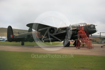 "World © Octane Photographic Ltd. October 6th 2015. RAF Coningsby. Battle of Britain Memorial Flight (BBMF) Lancaster Mk.III ""Thumper"" PA474. Digital Ref :  1454CB1D6460"