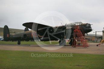 """World © Octane Photographic Ltd. October 6th 2015. RAF Coningsby. Battle of Britain Memorial Flight (BBMF) Lancaster Mk.III """"Thumper"""" PA474. Digital Ref : 1454CB1D6467"""
