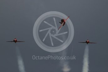 World © Octane Photographic Ltd. Red Arrows pre-season practice. RAF Scampton, 12th January 2016. BAe Hawk T1A