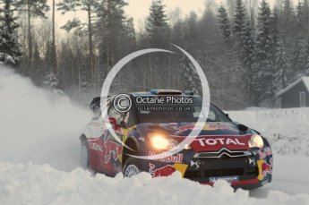 © North One Sport Limited 2011/Octane Photographic Ltd. 2011 WRC Sweden SS16 Torntorp I, Sunday 13th February 2011, Sebastien Loeb/Daniel Elena, Citroen DS3 WRC. Digital ref : 0156CB1D9312