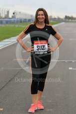 World © Octane Photographic Ltd. 5th February 2016 – Donington Park Racetrack. Suzi Perry launches the 2016 Donington Park Summer Running Festival. Digital Ref : 1500CB1D0203