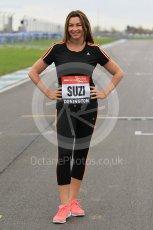 World © Octane Photographic Ltd. 5th February 2016 – Donington Park Racetrack. Suzi Perry launches the 2016 Donington Park Summer Running Festival. Digital Ref : 1500CB1D0207