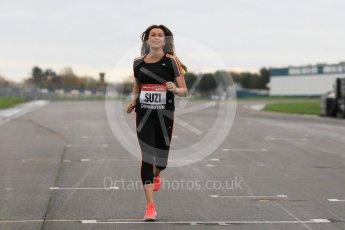 World © Octane Photographic Ltd. 5th February 2016 – Donington Park Racetrack. Suzi Perry launches the 2016 Donington Park Summer Running Festival. Digital Ref : 1500CB1D0255