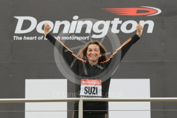 World © Octane Photographic Ltd. 5th February 2016 – Donington Park Racetrack. Suzi Perry launches the 2016 Donington Park Summer Running Festival. Digital Ref : 1500CB1D0294
