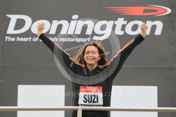 World © Octane Photographic Ltd. 5th February 2016 – Donington Park Racetrack. Suzi Perry launches the 2016 Donington Park Summer Running Festival. Digital Ref : 1500CB1D0319