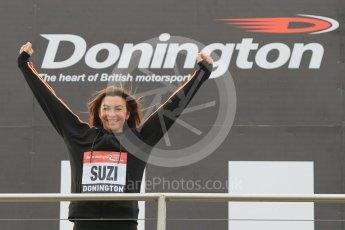 World © Octane Photographic Ltd. 5th February 2016 – Donington Park Racetrack. Suzi Perry launches the 2016 Donington Park Summer Running Festival. Digital Ref : 1500CB1D0371