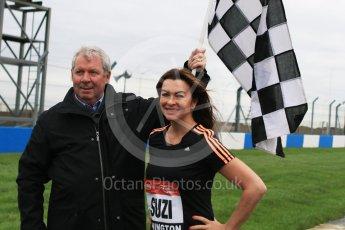 World © Octane Photographic Ltd. 5th February 2016 – Donington Park Racetrack. Suzi Perry and Brendan Foster launch the 2016 Donington Park Summer Running Festival. Digital Ref : 1500CB7D6102