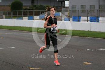 World © Octane Photographic Ltd. 5th February 2016 – Donington Park Racetrack. Suzi Perry launches the 2016 Donington Park Summer Running Festival. Digital Ref : 1500LB1D6601