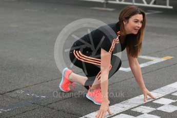 World © Octane Photographic Ltd. 5th February 2016 – Donington Park Racetrack. Suzi Perry launches the 2016 Donington Park Summer Running Festival. Digital Ref : 1500LB1D6609