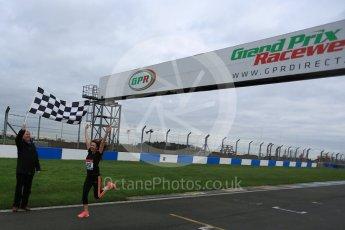 World © Octane Photographic Ltd. 5th February 2016 – Donington Park Racetrack. Suzi Perry and Brendan Foster launch the 2016 Donington Park Summer Running Festival. Digital Ref : 1500LB5D6237