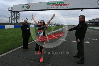 World © Octane Photographic Ltd. 5th February 2016 – Donington Park Racetrack. Suzi Perry and Brendan Foster launch the 2016 Donington Park Summer Running Festival. Digital Ref : 1500LB5D6276