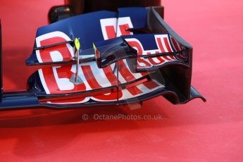 World © Octane Photographic Ltd. 2014 Formula 1 Winter Testing, Circuito de Velocidad, Jerez. Tuesday 27th January 2014. Day 1. Scuderia Toro Rosso STR 9 – Launch technical review. Digital Ref: 0881cb1d9066