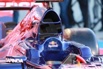 World © Octane Photographic Ltd. 2014 Formula 1 Winter Testing, Circuito de Velocidad, Jerez. Tuesday 27th January 2014. Day 1. Scuderia Toro Rosso STR 9 – Launch technical review. Digital Ref: 0881cb1d9086