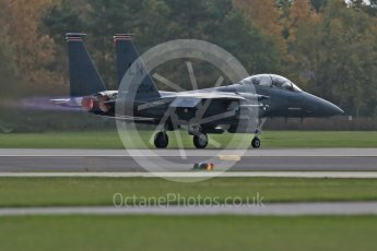 """World © Octane Photographic Ltd. RAF Lakenheath operations 16th November 2015, USAF (United States Air Force) 48th Fighter Wing """"Statue of Liberty Wing"""" 494 Fighter Squadron """"Panthers"""", McDonnell Douglas F-15E Strike Eagle LN 01-2004. Digital Ref : 1469CB1D3706"""