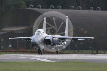"""World © Octane Photographic Ltd. RAF Lakenheath operations 16th November 2015, USAF (United States Air Force) 48th Fighter Wing """"Statue of Liberty Wing"""" 494 Fighter Squadron """"Panthers"""", McDonnell Douglas F-15E Strike Eagle LN 00-3001. Digital Ref : 1469CB1D3763"""