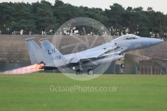 """World © Octane Photographic Ltd. RAF Lakenheath operations 16th November 2015, USAF (United States Air Force) 48th Fighter Wing """"Statue of Liberty Wing"""" 493 Fighter Squadron """"The Grim Reapers"""", McDonnell Douglas F-15C Eagle LN 86-178. Digital Ref : 1469CB1D4193"""