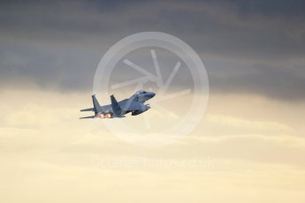 """World © Octane Photographic Ltd. RAF Lakenheath operations 16th November 2015, USAF (United States Air Force) 48th Fighter Wing """"Statue of Liberty Wing"""" 493 Fighter Squadron """"The Grim Reapers"""", McDonnell Douglas F-15C Eagle LN 86-178. Digital Ref : 1469CB1D4217"""