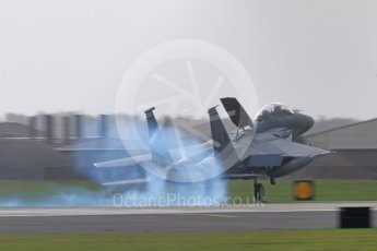 """World © Octane Photographic Ltd. RAF Lakenheath operations 16th November 2015, USAF (United States Air Force) 48th Fighter Wing """"Statue of Liberty Wing"""" 492 Fighter Squadron """"Madhatters"""", McDonnell Douglas F-15E Strike Eagle LN 96-202. Digital Ref : 1469CB7D0278"""