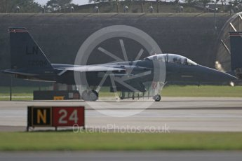 """World © Octane Photographic Ltd. RAF Lakenheath operations 16th November 2015, USAF (United States Air Force) 48th Fighter Wing """"Statue of Liberty Wing"""" 494 Fighter Squadron """"Panthers"""", McDonnell Douglas F-15E Strike Eagle LN 01-2004. Digital Ref : 1469CB7D0288"""