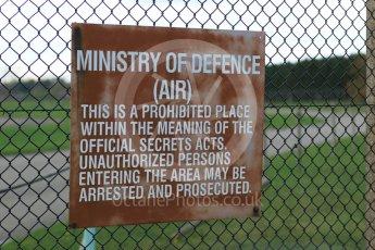 World © Octane Photographic Ltd. RAF Lakenheath operations 16th November 2015, Security warning sign. Digital Ref : 1469CB7D0430