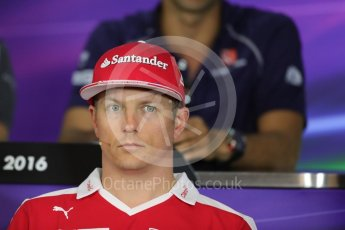 World © Octane Photographic Ltd. F1 Austrian GP FIA Drivers' Press Conference, Red Bull Ring, Spielberg, Austria. Thursday 30th June 2016. Scuderia Ferrari – Kimi Raikkonen. Digital Ref :1596LB1D5025