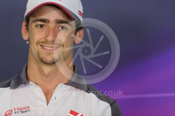 World © Octane Photographic Ltd. F1 Austrian GP FIA Drivers' Press Conference, Red Bull Ring, Spielberg, Austria. Thursday 30th June 2016. Haas F1 Team - Esteban Gutierrez. Digital Ref :1596LB1D5039