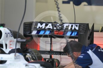World © Octane Photographic Ltd. Williams Martini Racing, Williams Mercedes FW38. Thursday 30th June 2016, F1 Austrian GP Pit Lane, Red Bull Ring, Spielberg, Austria. Digital Ref : 1594CB1D1419