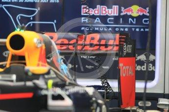 World © Octane Photographic Ltd. Red Bull Racing RB12. Thursday 30th June 2016, F1 Austrian GP Pit Lane, Red Bull Ring, Spielberg, Austria. Digital Ref : 1594CB1D1429