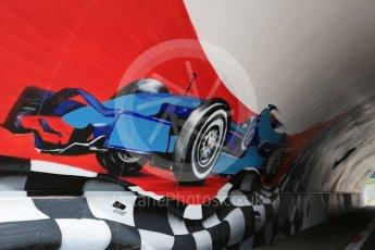 World © Octane Photographic Ltd. Painted circuit entry access tunnel. Thursday 30th June 2016, F1 Austrian GP, Red Bull Ring, Spielberg, Austria. Digital Ref : 1594CB5D2433