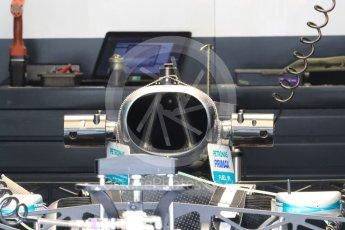 World © Octane Photographic Ltd. Mercedes AMG Petronas W07 Hybrid. Thursday 30th June 2016, F1 Austrian GP Pit Lane, Red Bull Ring, Spielberg, Austria. Digital Ref : 1594LB1D0074